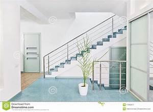Une Partie D'intérieur Moderne De Hall Avec L'escalier En