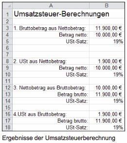 Excel Umsatzsteuer Berechnen : ermittlung der umsatzsteuer ~ Themetempest.com Abrechnung