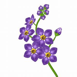 Purple Flowers Clip Art - Cliparts.co