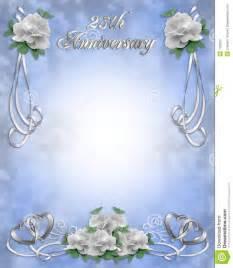 25 ans mariage invitation d 39 anniversaire de mariage 25 ans photographie stock libre de droits image 7582837