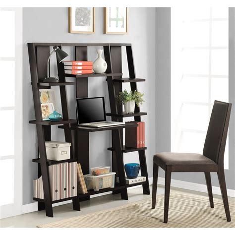 mainstays computer desk with side shelves instructions mainstays leaning ladder 5 shelf bookcase espresso