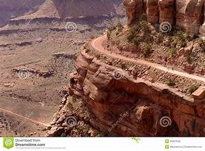 Biking on Edge of Cliff stock image. Image of outdoors ...