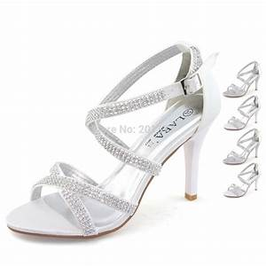 laras brand silver white wedding shoes for women ladies With silver dress sandals wedding