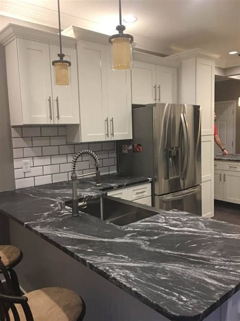 beautiful black forest leathered granite countertops