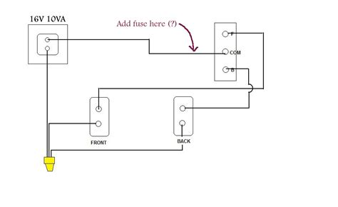 Electrical Adding Undersized Fuse Doorbell Circuit