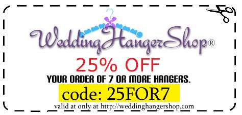 99103 Wedding Favor Discount Coupon Code by Wedding Hanger Shop Coupon Code Cleaning Product Coupons