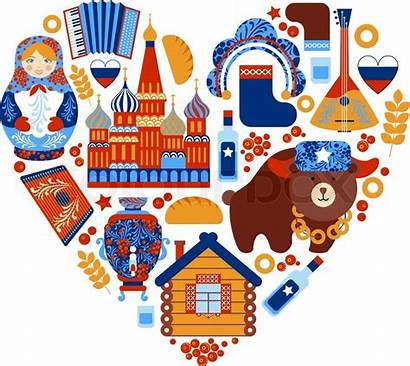 Russia Travel Vector Illustration Icons