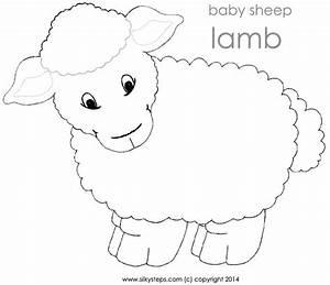 lamb sheep template printable jesus lambs shepherd With lamb template to print