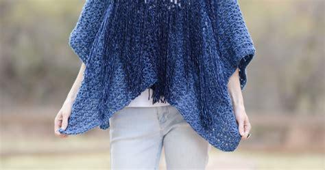 Azul V-mesh Easy Crochet Poncho Pattern