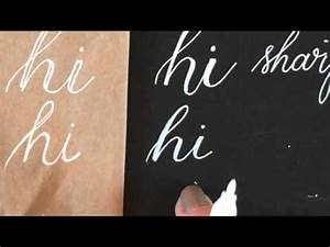 Lettering with White Paint Pens