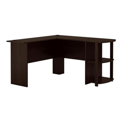 l shaped desk for two l shaped computer desk in dark russet cherry 9354303pcom