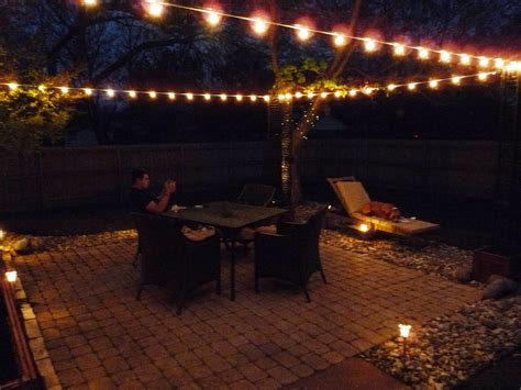 String Patio Lights by Lighting Creative Ways To Use Outdoor Light Strings In