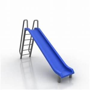 3D Park Stuff Slide N170408 - 3D model (* gsm+* 3ds) for