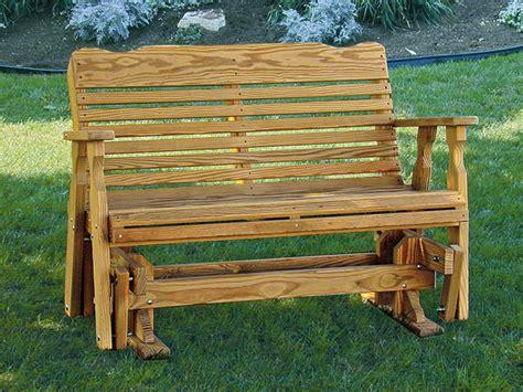 porch bench glider amish pine wood westchester glider bench from