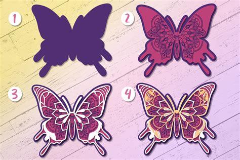 ( i hope that made sense) i use cricut design space. 3D Zentangle Butterfly | 3D Papercut SVG (533178) | Paper ...