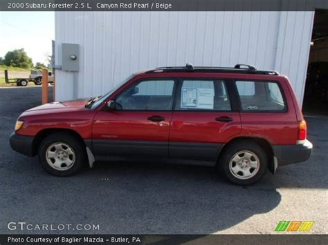 red subaru forester 2000 canyon red pearl 2000 subaru forester 2 5 l beige
