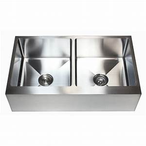 36 inch stainless steel flat front farm apron 50 50 double With 36 inch apron front kitchen sink