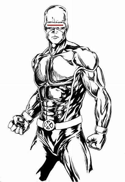 Cyclope Cyclops Sketch Xmen Ciclope Deviantart Marvel