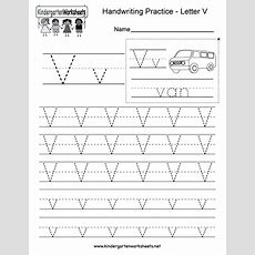 Letter V Handwriting Worksheet For Kindergarteners You Can Download, Print, Or Use It Online