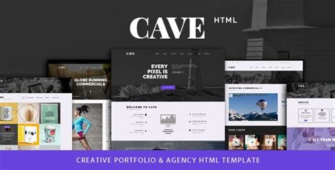 cave creative multipurpose bootstrap template