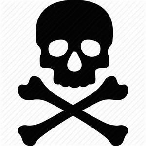 Crossbones, danger, dead, death, evil, skull, toxic icon ...