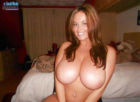 chesty boob model sarah nicola randall taking topless selfies