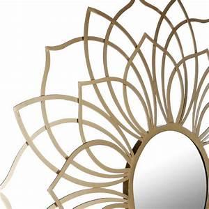 Deco Metal Mural : miroir d co mural m tal 85cm or ~ Nature-et-papiers.com Idées de Décoration