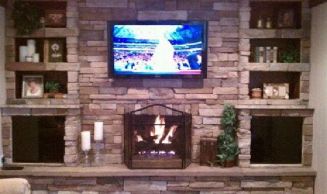 force incorporated recessed tv mount  fireplace