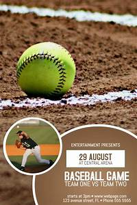 Baseball, Tournament, Poster, Template, Click, To, Customize