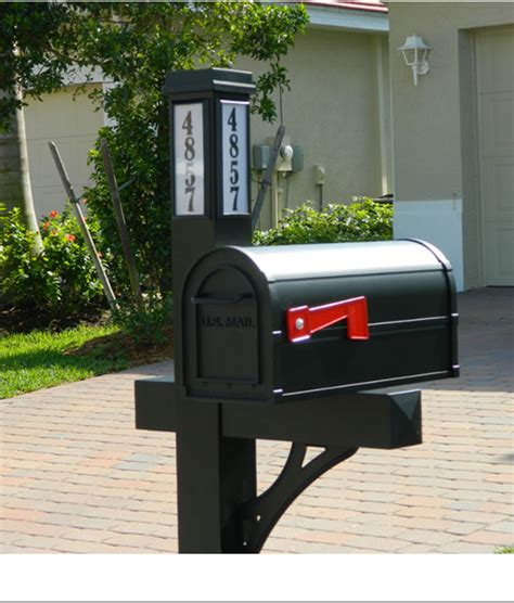 solar powered mailbox light address sign