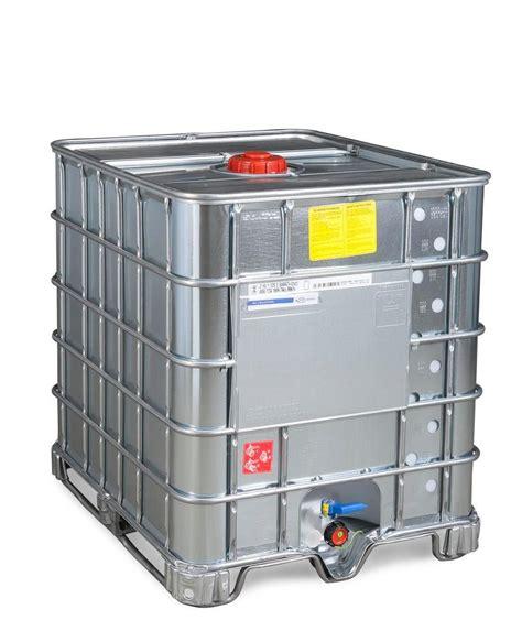 Pompes cuve 1000l ibc grv. Cuve IBC produits dang., revêtement, patins acier, 1000l, DN 150, Ex