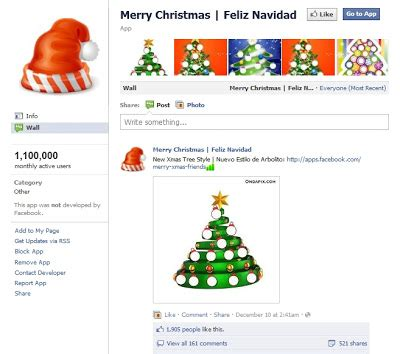 merry christmas a cool facebook christmas app to make your own virtual christmas tree dawn