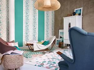 Tapis D Intérieur : tapis turquoise en acrylique d 39 int rieur petals esprit home ~ Melissatoandfro.com Idées de Décoration