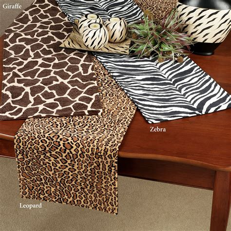 animal print table runners animal print table runners these polyester cotton
