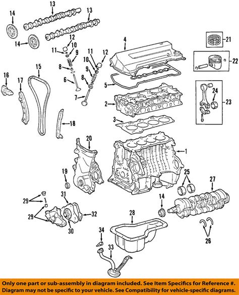 Toyotum Car Engine Diagram by Toyota Oem 98 99 Corolla Engine Valve Cover 1120122040 Ebay