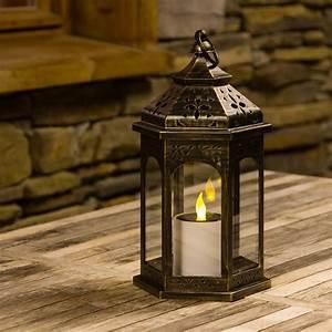 Laterne Mit Led Kerze : braune solar laterne mit led kerze h 32 5 cm led gelb led laternen ~ Orissabook.com Haus und Dekorationen