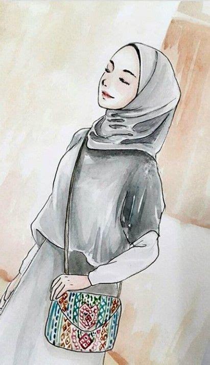 Hijab menjadi ciri khas gaya busana wanita muslimah. 100 Gambar Kartun Muslimah Tercantik dan Manis HD - Kuliah Desain