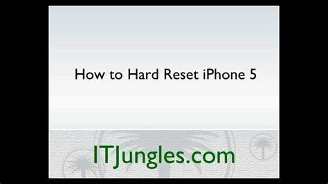 to wipe out an iphone iphone 5 how to reset 3 ways
