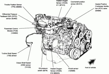 02 Tauru Engine Diagram by 2001 Ford Taurus Engine Diagram Automotive Parts Diagram