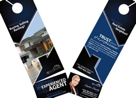 Real Estate Door Hanger Rip Cards  Door Hangers Business