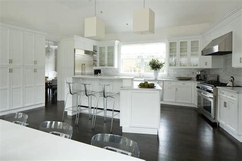 angled kitchen island transitional kitchen weitzman