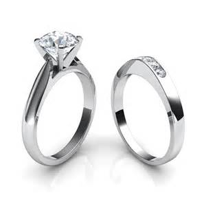 solitaire engagement rings tapered cathedral solitaire engagement ring wedding band bridal set