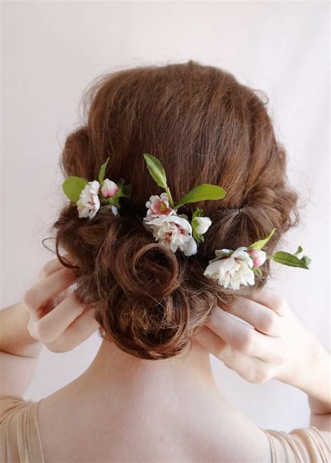 bridal hair flower flower hair pins wedding hairpiece