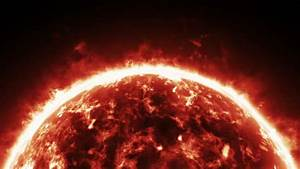 Burning Atmosphere Of Red Giant Star Stock Footage Video ...