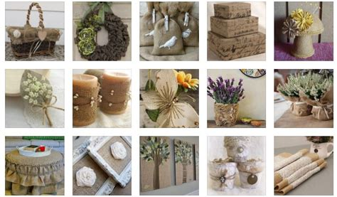 Original Decor Ideas From Burlap For A Rustic Touch In