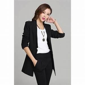 Blazer Femme Noir : blazer long femme ~ Preciouscoupons.com Idées de Décoration