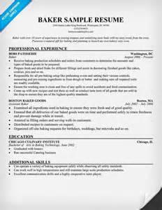 Baker Resume Objective Sles baker resume resumecompanion resume sles across all industries resume
