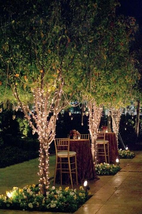 garden wedding string lights in trees 2096605 weddbook