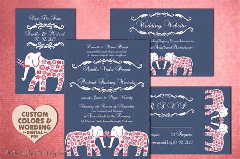 indian wedding save  date template diy printable