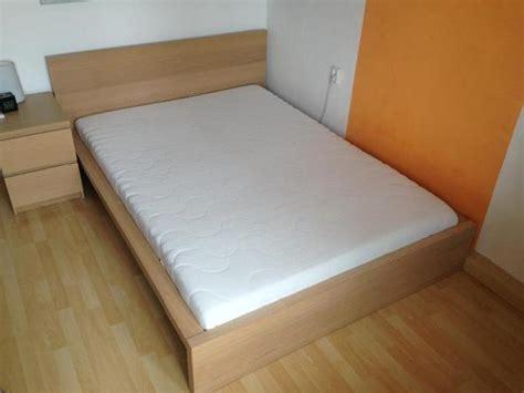 Ikea Malm 140x200 Bett Mit Double De Luxe Matratze Und